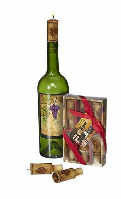 Wine Cork Candles w/ Merlot Scent Vintage Design Wine Accessories Gift Set