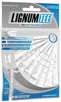 "Lignum Golf Tees 2 3/4"" - 72 mm , weiß,  12 Stück aus Microwood"