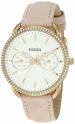 Fossil Women's Tailor ES4393 35mm Silver Dial Leather Watch