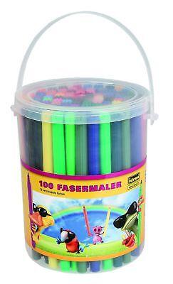 100 Fasermaler / Filzstifte / 30 verschiedene Farben