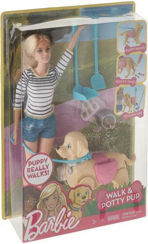 Barbie Walk & Potty Pup, Blonde