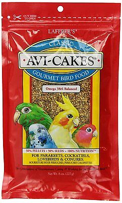 Lafeber's® Avi-Cakes Parakeet & Cockatiel Bird Food BULK 80 oz (10 bags x 8 oz)