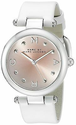Marc by Marc Jacobs Dotty Pink-Hue Dial White Leather Strap Women's Watch MJ1407