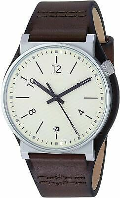 Fossil FS5510 Men's Barstow Stainless Steel 42mm Cream Dial Leather Watch