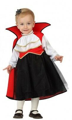 Baby Girls Vampire Cutie Traditional Halloween Fancy Dress Costume Outfit 0-24 - Baby Girl Vampire Costume