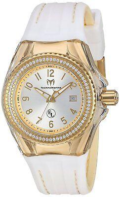 Technomarine TM-416025 Eva Longoria Women's 34mm Gold-Tone Silver Dial Watch