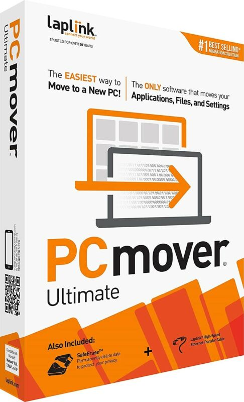 BRAND NEW SEALED Laplink Software PCmover Ultimate with High Speed Cable