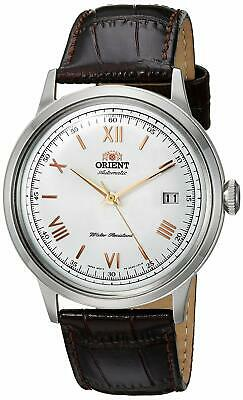 Orient FAC00008W 2nd Gen. Bambino Version 2 Automatic White Dial Leather Watch