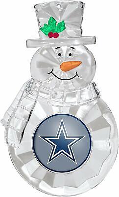 Dallas Cowboys Football Team NFL Traditional Snowman Christm