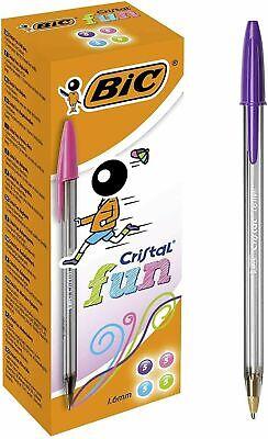 BIC Cristal Fun - Bolígrafos de punta ancha (1.6 mm), Caja de...