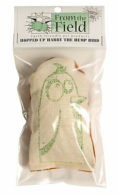 FROM THE FIELD ORGANIC CATNIP HOPPED UP HARRY HEMP BIRD PILLOW. FREE SHIP TO USA