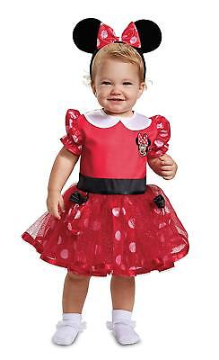 Minnie Mouse Red Infant Disney Fancy Dress Up Halloween Toddler Child Costume