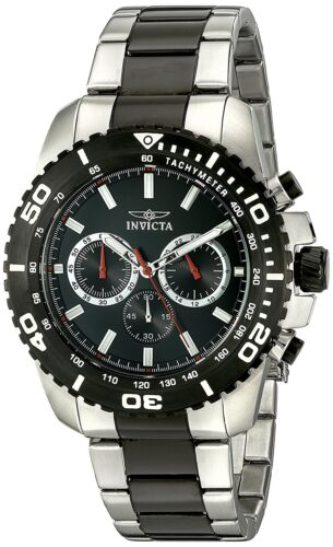 Mens Watches - Invicta Men's 19844 Pro Diver Chronograph 47mm Black Dial Steel Watch