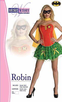 Secret Wishes Women's DC Comics Robin Corset Tutu Halloween Costume (Robin Tutu Kostüme)