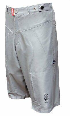 Men Baggy Loose Fit Padded City Bike Grey Mountain Bike Shorts