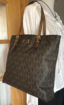 Authentic MICHAEL KORS Monogram Coated Canvas Shoulder Handbag Fits Laptops