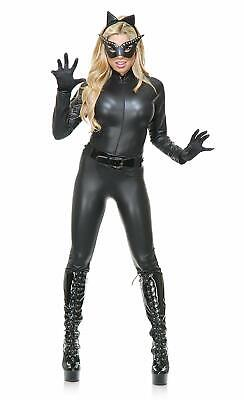 Cat Suit Black Catwoman Catsuit Animal Fancy Dress Halloween Sexy Adult Costume](Halloween Catwoman Suit)