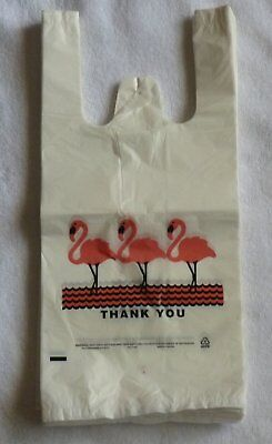 Lot 500 Flamingo Thank-you T-shirt Bags (6x3x13 -13 Mic) small size