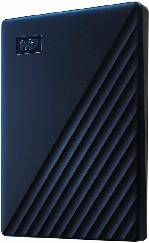 WD 2TB My Passport for Mac Portable External Hard Drive - Blue, USB-C/USB-A - WD