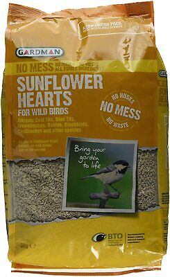 Gardman No Mess Sunflower Hearts for Wild Birds 4kg FREE NEXT DAY DELIVERY (UK)