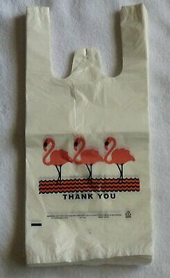 White Thank-you T-shirt Plastic Shopping Large Bags Handles 14x8x27 Lot 200
