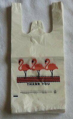 Lot 2000 White Thank-you T-shirt Plastic Shopping Large Bags Handles Jumbo