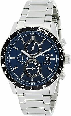 Citizen Men's Quartz Blue Dial Chronograph Watch - AN3600-59L NEW