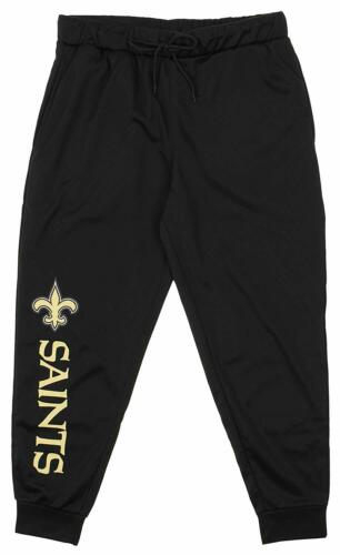 Zubaz NFL New Orleans Saints Men's Poly Fleece Jogger, Black>