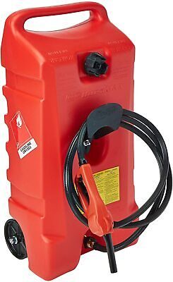 Duramax Flo N Go Le Fluid Transfer Pump And 14-gallon Rolling Gas Can-new