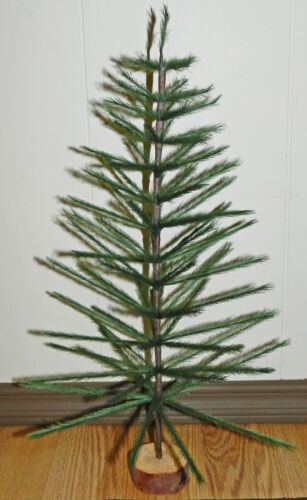 GREEN FAUX GERMAN FEATHER TREE CHRISTMAS TABLETOP LIMITED QUANTITIES