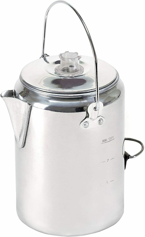 TREKMATE Aluminum Percolator Coffee Pot 9 CUP , Camping