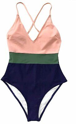 Women s Cross Block With Lining One-Piece, Multi-color, Size 12.0 Dhs9 - $13.99