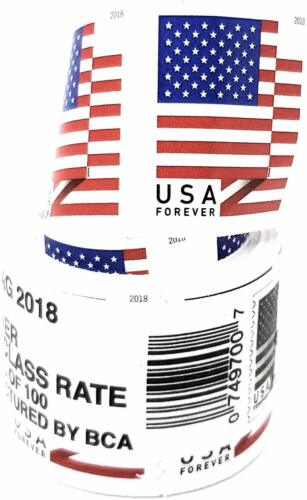 *2018 Forever USA Stamps (Coil w/100 Stamps) - *FREE SHIPPING & Tracking USA*