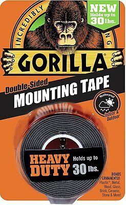 Gorilla Glue 6055001 Heavy Duty Mounting Tape Double-sided 1 X 60 Black