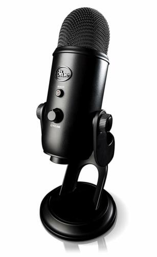 Blue Yeti USB Microphone Streaming & Recording Mac/PC (Pro Mic) Blackout Edition