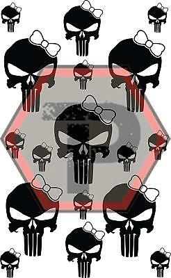 girl punisher stencil for cerakote, gunkote, duracoat Avery paint mask sticky ba for sale  Clearfield