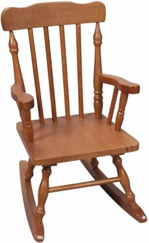 Kids Rocking Chair Wood Seat Childrens Nursery Bedroom Furniture Seat Little