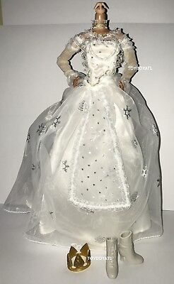 Alice Through the Looking Glass White Queen Doll Outfit Dress Shoes Crown NEW](Through The Looking Glass White Queen)