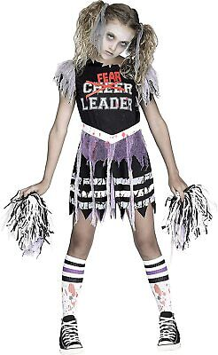 Zombie FearLeader Cheerleader Costume Girls Size Small Child Kids Halloween