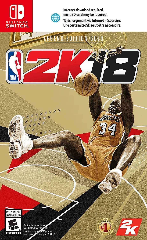 NBA 2K18 LEGEND EDITION GOLD Nintendo Switch New - $54.88