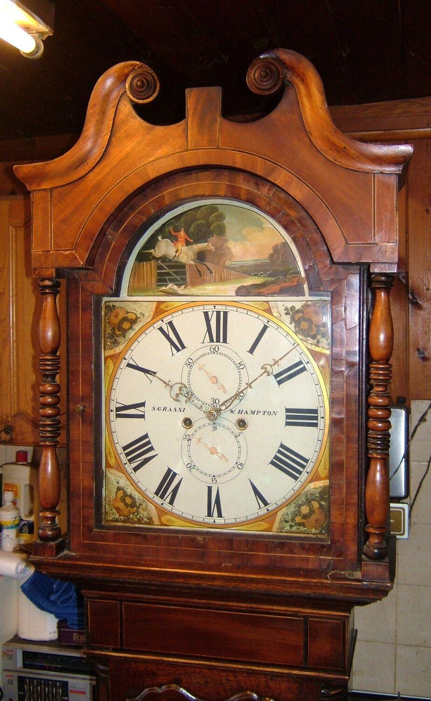 Georgian Oak, Mahogany & Inlaid 8 day Antique Longcase Grandfather Clock C1830