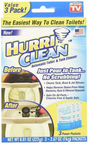 HurriClean Automatic Toilet & Tank Cleaner with Cyclonic Foaming Action