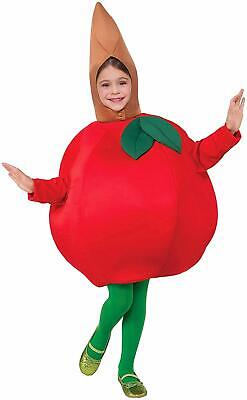 Apple Foodies Red Food Fruit Funny Fancy Dress Up Halloween Child Costume