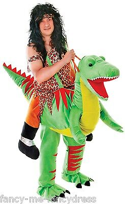 Mens Step in Ride on Dinosaur Caveman Festival Stag Fancy Dress Costume Outfit