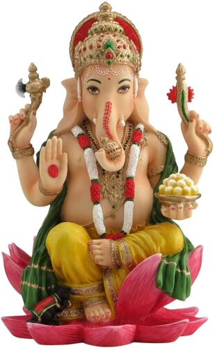 Ganesh Ganesha Hindu Elephant God of Success Statue Sculpture Eastern Decor