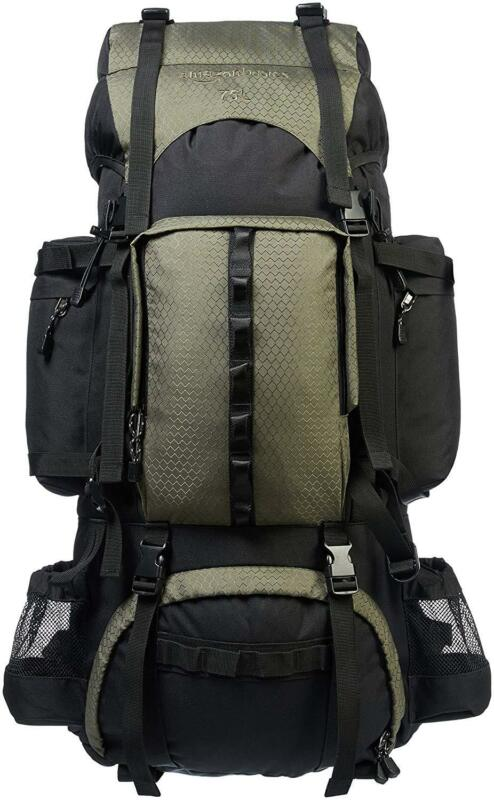 Internal Frame Hiking Backpack with Rainfly 75L Capacity 70L