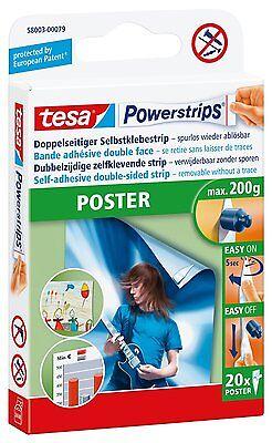 TESA Powerstrips Posterstrips 20 Stück NEU 58003