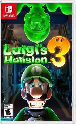 LUIGI'S MANSION 3 Nintendo Switch Video Game Region Free New Sealed SHIPS FREE