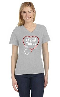 Proud To Be a Nurse - Best Gift Idea for Nurses V-Neck Women T-Shirt - Gift For A Nurse