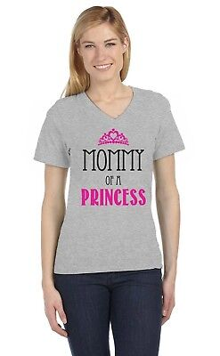 Mommy of a Princess - Mom and Daughter Mother's Day V-Neck Women T-Shirt Queen